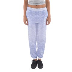 Damask Pattern Wallpaper Blue Women s Jogger Sweatpants