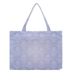 Damask Pattern Wallpaper Blue Medium Tote Bag