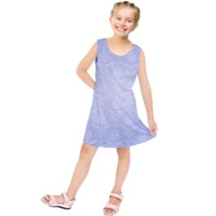 Damask Pattern Wallpaper Blue Kids  Tunic Dress