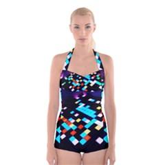 Dance Floor Boyleg Halter Swimsuit