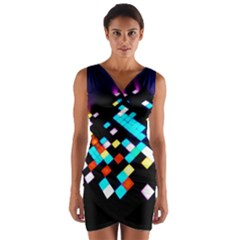 Dance Floor Wrap Front Bodycon Dress