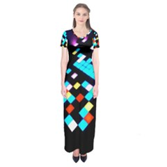 Dance Floor Short Sleeve Maxi Dress