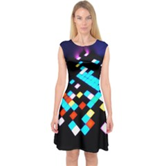 Dance Floor Capsleeve Midi Dress