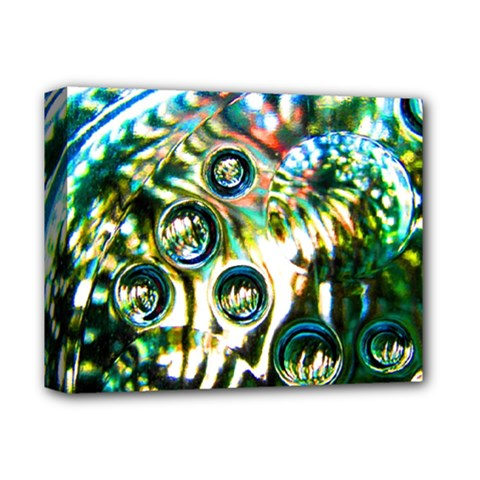 Dark Abstract Bubbles Deluxe Canvas 14  X 11