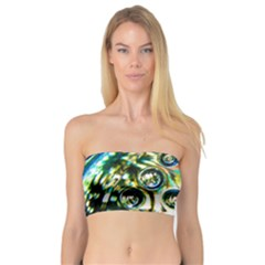Dark Abstract Bubbles Bandeau Top