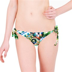 Dark Abstract Bubbles Bikini Bottom