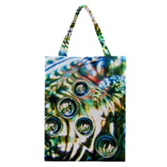 Dark Abstract Bubbles Classic Tote Bag