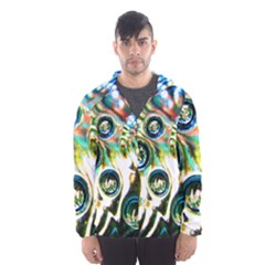 Dark Abstract Bubbles Hooded Wind Breaker (men)