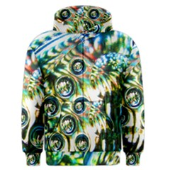 Dark Abstract Bubbles Men s Zipper Hoodie