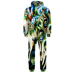 Dark Abstract Bubbles Hooded Jumpsuit (men)