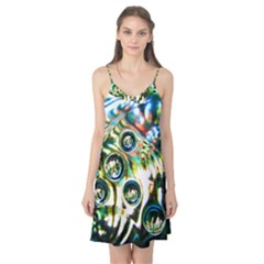 Dark Abstract Bubbles Camis Nightgown
