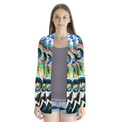 Dark Abstract Bubbles Cardigans