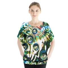 Dark Abstract Bubbles Blouse