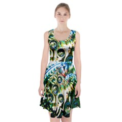 Dark Abstract Bubbles Racerback Midi Dress