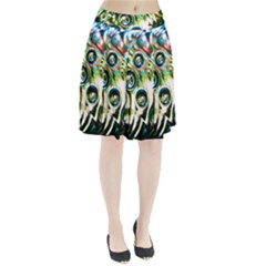 Dark Abstract Bubbles Pleated Skirt