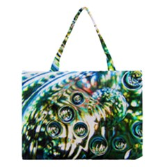 Dark Abstract Bubbles Medium Tote Bag