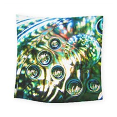 Dark Abstract Bubbles Square Tapestry (small)