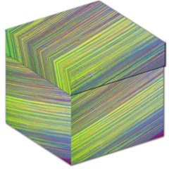Diagonal Lines Abstract Storage Stool 12
