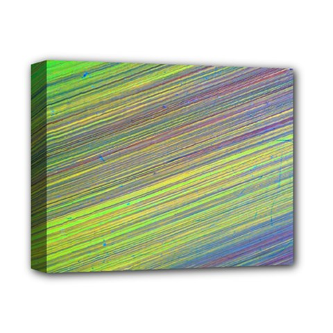 Diagonal Lines Abstract Deluxe Canvas 14  X 11