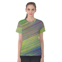 Diagonal Lines Abstract Women s Cotton Tee