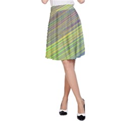 Diagonal Lines Abstract A Line Skirt
