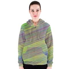 Diagonal Lines Abstract Women s Zipper Hoodie