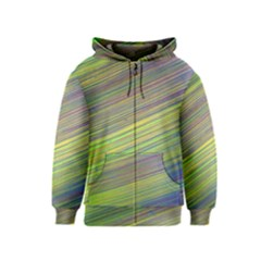 Diagonal Lines Abstract Kids  Zipper Hoodie