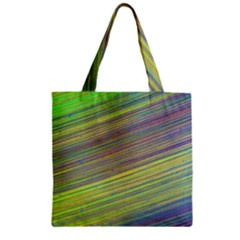 Diagonal Lines Abstract Zipper Grocery Tote Bag