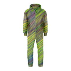 Diagonal Lines Abstract Hooded Jumpsuit (Kids)