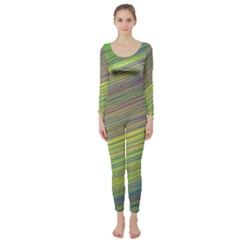 Diagonal Lines Abstract Long Sleeve Catsuit