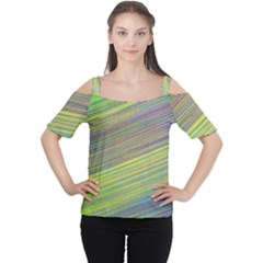 Diagonal Lines Abstract Women s Cutout Shoulder Tee