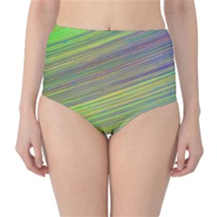 Diagonal Lines Abstract High Waist Bikini Bottoms