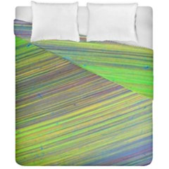 Diagonal Lines Abstract Duvet Cover Double Side (california King Size)