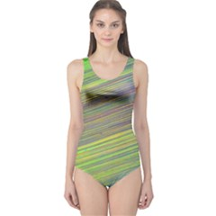 Diagonal Lines Abstract One Piece Swimsuit