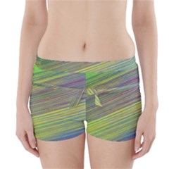 Diagonal Lines Abstract Boyleg Bikini Wrap Bottoms