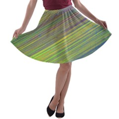 Diagonal Lines Abstract A Line Skater Skirt