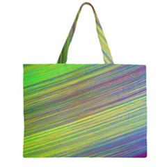 Diagonal Lines Abstract Zipper Large Tote Bag