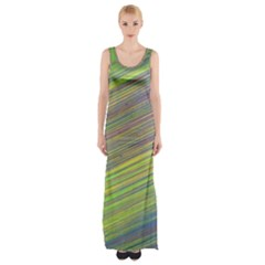 Diagonal Lines Abstract Maxi Thigh Split Dress