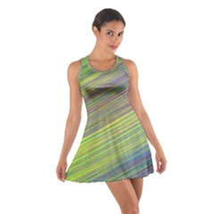 Diagonal Lines Abstract Cotton Racerback Dress