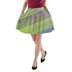 Diagonal Lines Abstract A-Line Pocket Skirt