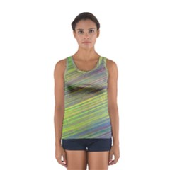Diagonal Lines Abstract Women s Sport Tank Top