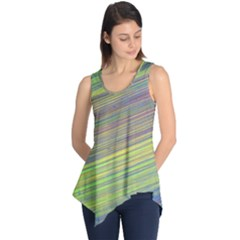 Diagonal Lines Abstract Sleeveless Tunic