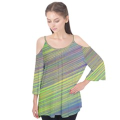 Diagonal Lines Abstract Flutter Tees