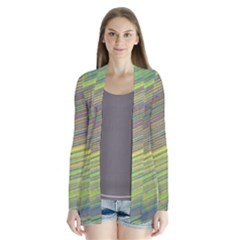 Diagonal Lines Abstract Cardigans