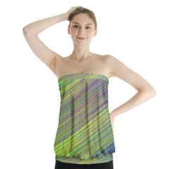 Diagonal Lines Abstract Strapless Top