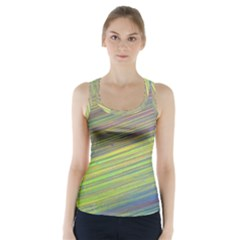 Diagonal Lines Abstract Racer Back Sports Top