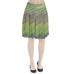 Diagonal Lines Abstract Pleated Skirt