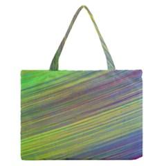 Diagonal Lines Abstract Medium Zipper Tote Bag