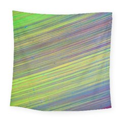 Diagonal Lines Abstract Square Tapestry (large)