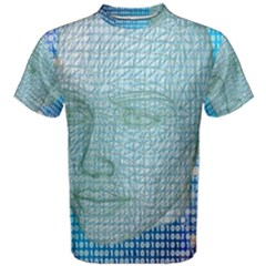 Digital Pattern Men s Cotton Tee